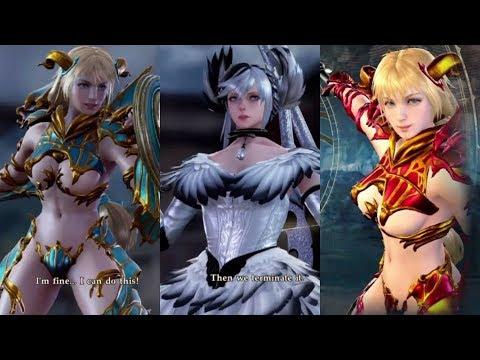 Soulcalibur VI Arcane Knight Sophitia Vs Cursed Bird 2B Cosplay Battle New DLC 3 Armor