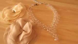 Свадебное-хрустальное колье от Ксении