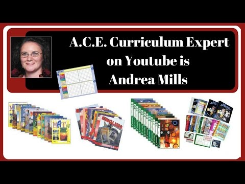 Homeschool || A.C.E. Curriculum Expert on Youtube is Andrea Mills
