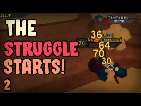 THE STRUGGLE'S STARTING! Noob To Pro #2 | Dungeon Quest Roblox
