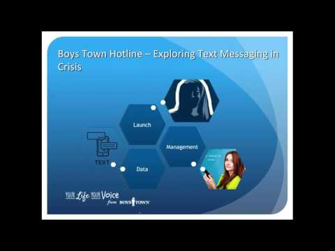 2017 06 07 11 07 Text Messaging for Crisis Centers Hotlines, Helplines