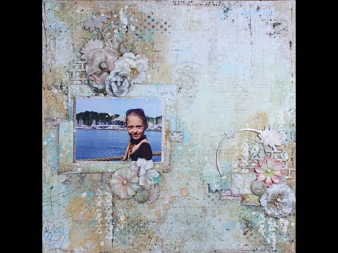 Mixed Media Layout ~ Spring Grunge ~ By Heather Thompson