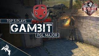 CS:GO | Gambit - Top 5 Plays (PGL Major Krakow 2017)