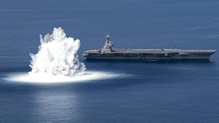 video: Watch: US Navy tests warship's strength with huge blast that mimics 3.9 earthquake