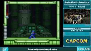 Rockman & Forte by cleartonic in 38:21 - Summer Games Done Quick 2015 - Part 113