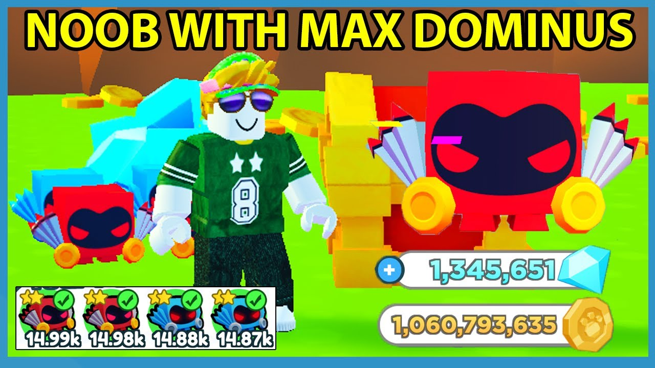 Noob With Full Team of Dominus Pets in Roblox Pet Simulator X