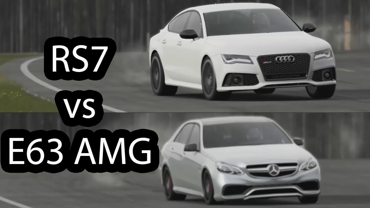 NEW Audi RS7 vs Mercedes E63 AMG Top Gear - YouTube