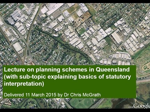 Planning schemes in Qld lecture 2015