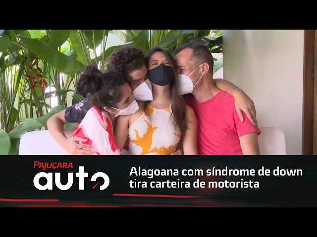 Habilitada: Alagoana com síndrome de down tira carteira de motorista