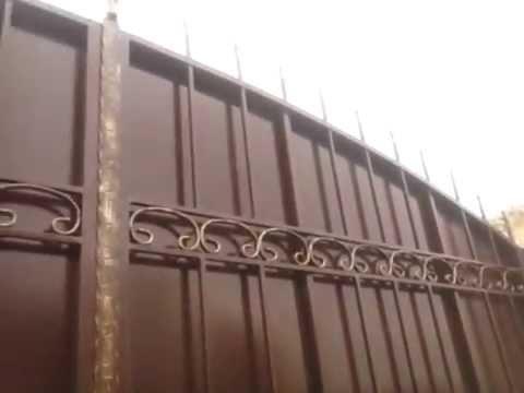 Распашные ворота и калитка с коваными элементами, Херсон