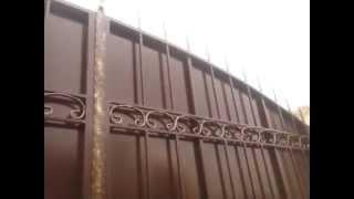 Распашные ворота и калитка с коваными элементами, Херсон(Распашные ворота 3500*2500мм. калитка 900*2300мм. Предлагаем Вам широкий ассортимент ворот и калиток собственного..., 2015-10-10T18:54:00.000Z)