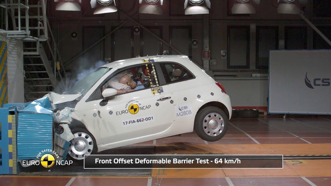Fiat 500 Crash Test Euro NCAP | Rating - YouTube