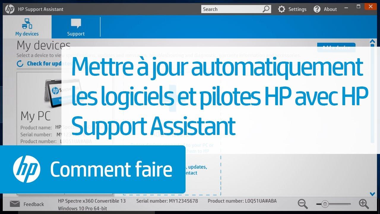Mettre à jour automatiquement les logiciels et pilotes HP avec HP Support  Assistant