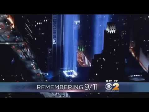 Beams Illuminate Night Sky Over Manhattan On 9/11 Anniversary