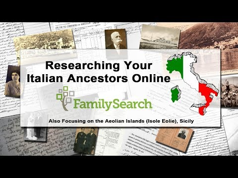 Finding your Italian Ancestors Online - Family Search.org - Italian Records