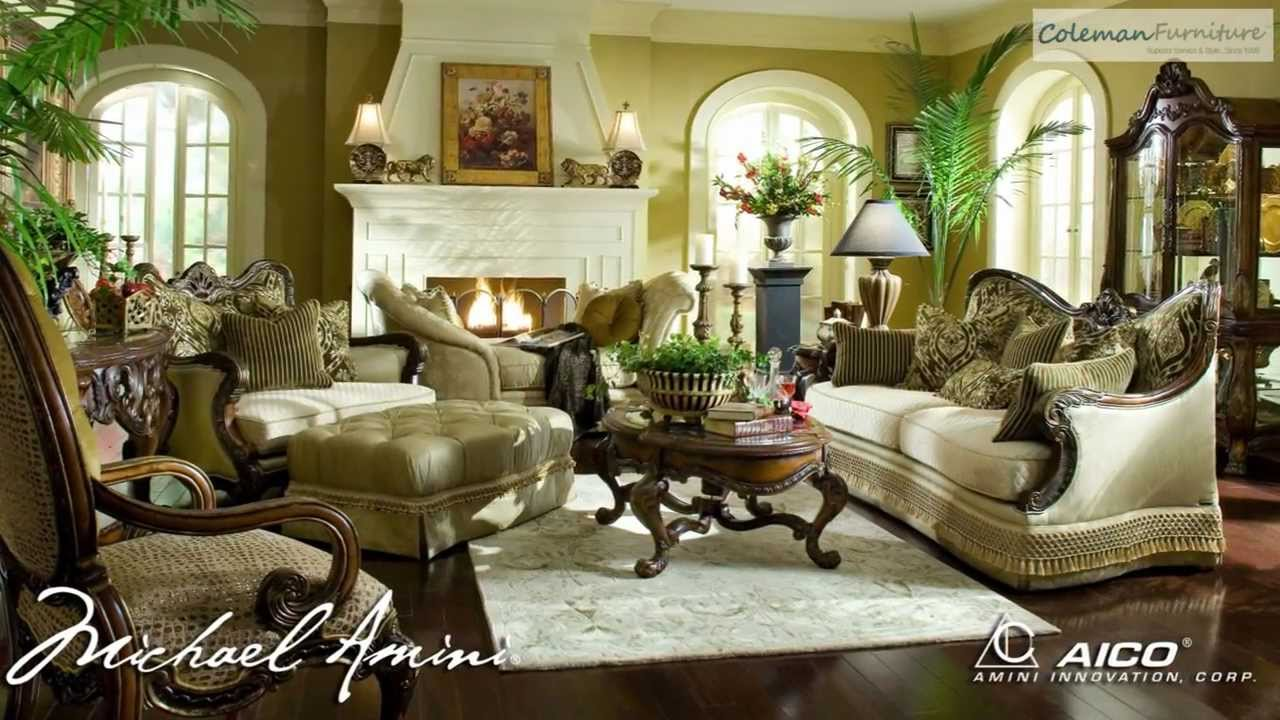 Chateau Beauvais Living Room Collection From Aico Furniture   YouTube