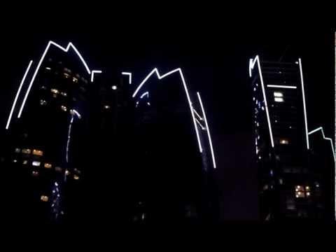 Etihad Towers of Abu Dhabi Amazing Lighting
