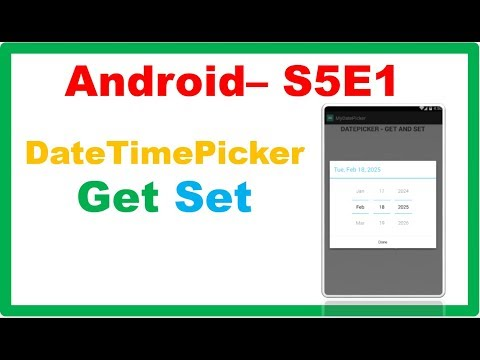 Android DateTime → Android DatePickerDialog – Get and Set DateTime