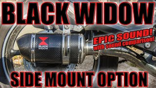Black Widow Exhaust side mount Comparison! Yamaha XJ6