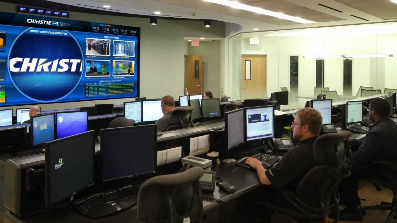 Christie Digital Network Operations Center Youtube