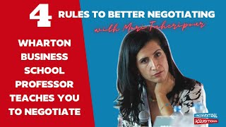 4 Negotiating Tips and Tricks with Mori Taheripour of The Wharton School