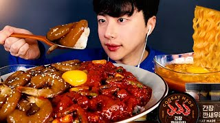 SUB) MUKBANG | Let's eat shrimp! Spicy Seasoned Shrimp, Soy Seasoned Shrimp Eating Sounds Show 먹방