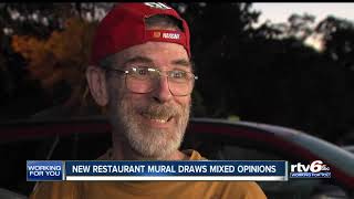 New restaurant mural draws mixed opinions