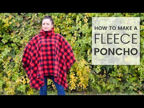 how-to-make-a-fleece-poncho