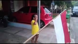 Anak Tk nyanyi lagu Indonesia Raya