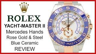 ▶ Rolex Yacht-Master II Blue Ceramic, Mercedes Hands, Rose Gold & Steel, Rolesor, 116681 - REVIEW