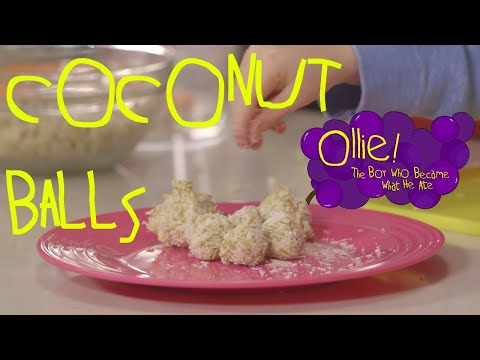 Making Coconut Oats Balls with Ollie