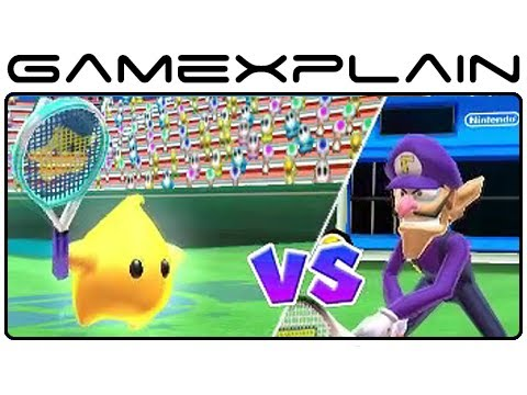Mario tennis open champions cup singles gameplay footage