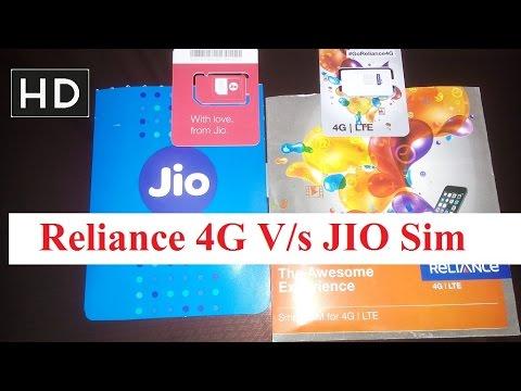 Reliance jio VS Reliance 4G sim