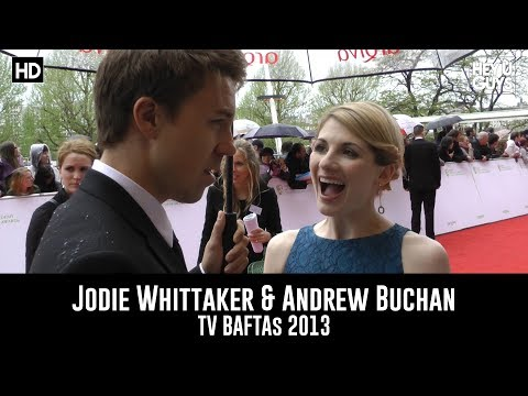Jodie Whittaker & Andrew Buchan   TV BAFTAs 2013