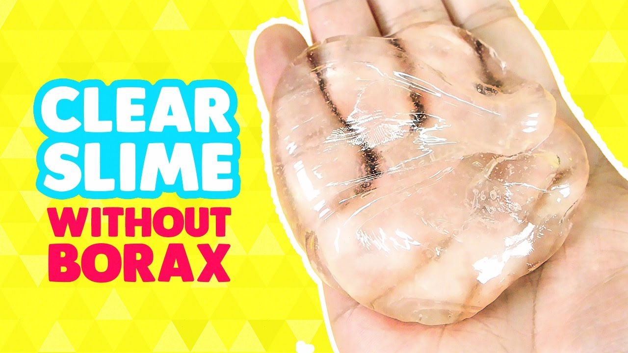 How To Make Jelly Clear Slime Monster  Without Borax (diy Liquid Glass)  Clay Slime Recipe