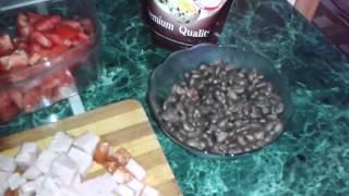 Салат с кедровыми орешками)))