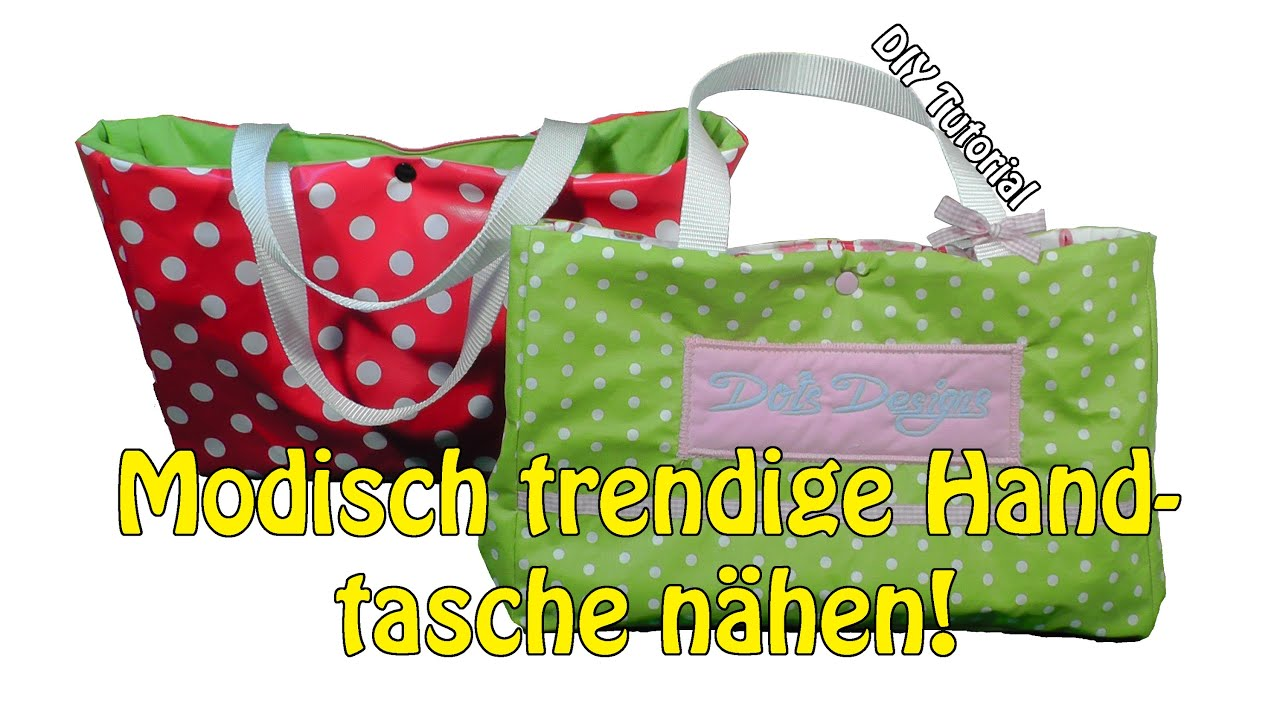 modisch trendige handtasche selber n hen diy n hen f r anf nger tutorial youtube. Black Bedroom Furniture Sets. Home Design Ideas