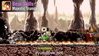 Ayumilove MapleStory Beast Tamer (Bear, Cat, Snow Leopard, Hawk) Skills Preview