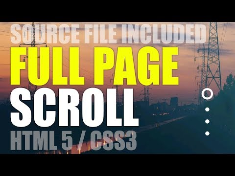 FullPage Scrolling Effect Using HTML 5  CSS 3  JQuery