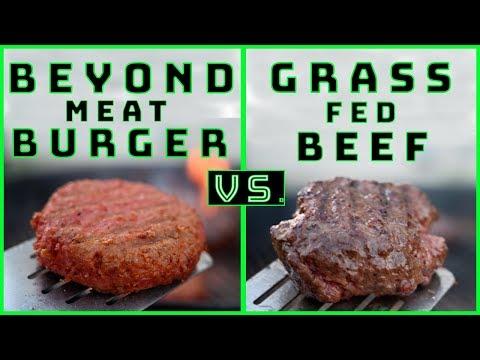 BEYOND MEAT BURGER VS  GRASS FED BEEF | BBQ TASTE TEST