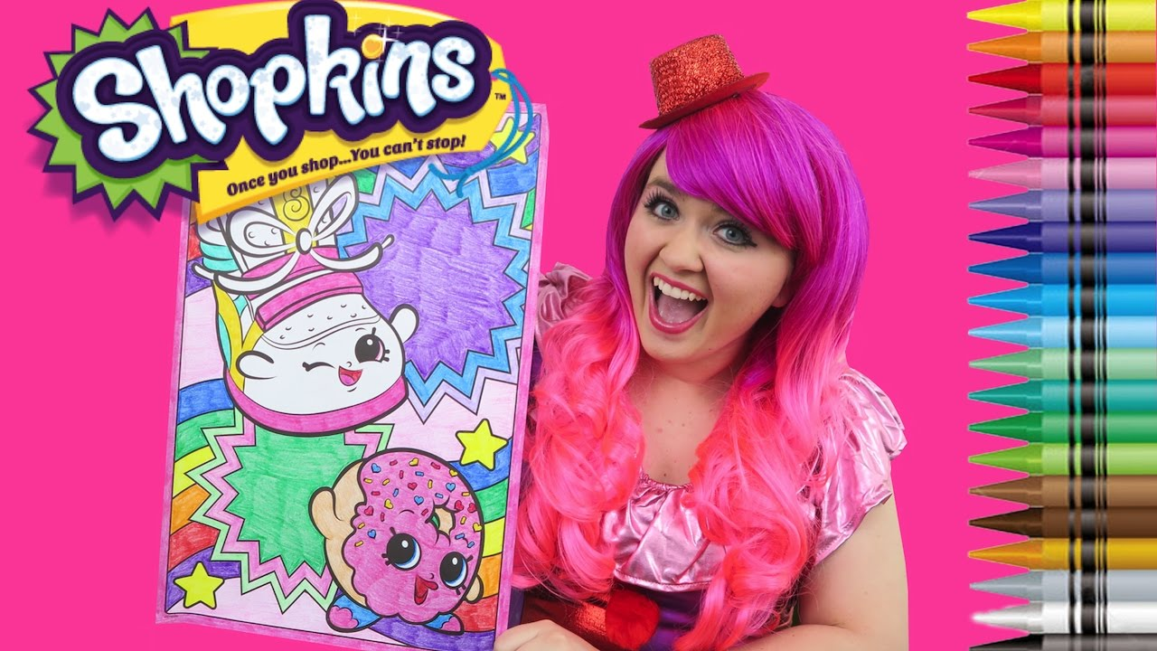 Shopkins coloring pages sneaky wedge - Coloring Shopkins D Lish Donut Sneaky Wedge Giant Coloring Book Page Crayons Kimmi The Clown