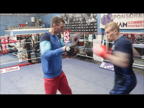 COULD WEST BROMWICH ALBION STAR JAMES McCLEAN MAKE IT AS A BOXER?? PADS WORK W/ TOMMY LANGFORD