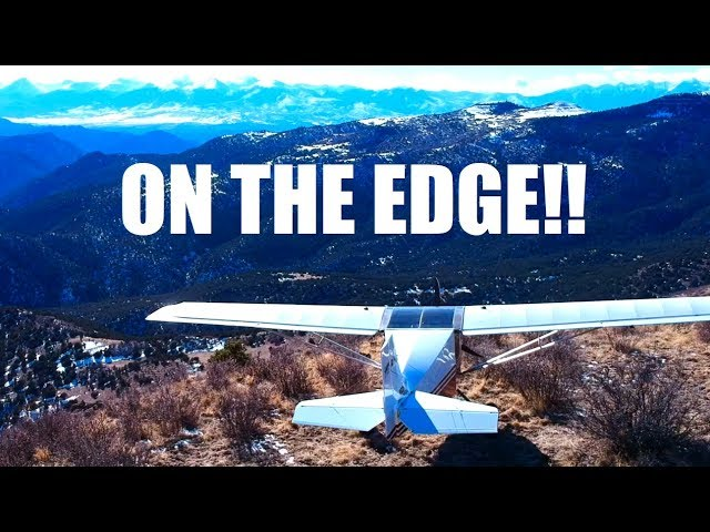 off-airport landing on the edge of a mountain!! - rans s-6s