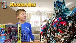 Трансформер Оптимус Прайм из фильма Бамблби Transformers 6 приехал к Тиме из Японии