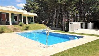 Chácara porteira fechada, cod 145, piscina com prainha ,divisa de uma belíssima área verde.