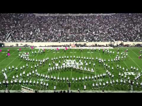 Michigan State Notre Dame Sept 15, 2012 Half Time MSU Marching Band