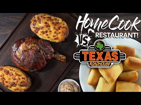 HOME COOK vs RESTAURANT | Texas Roadhouse Ribeye Steak!