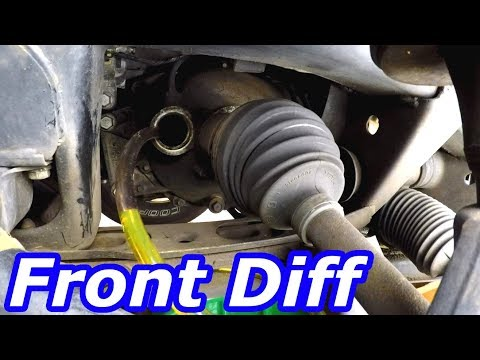 HOW TO CHECK AND FILL Front Differential Fluid GMC Envoy