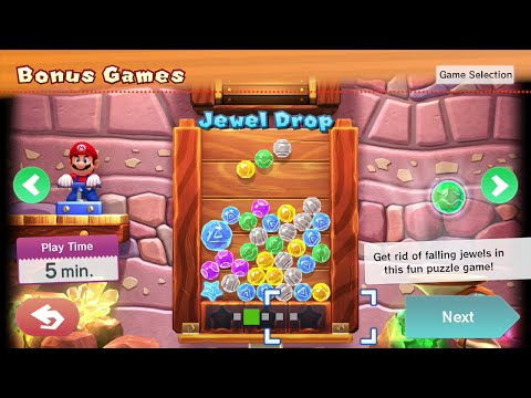 MARIO PARTY 10 JEWEL DROP GAMEPLAY