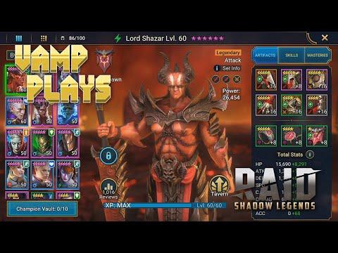 RAID: Shadow Legends   Lord Shazar Guide   Vamp Plays